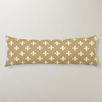 Fallow Neutral Fleur de Lys Body Pillow