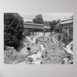 Falls above Brockway Gorge Poster