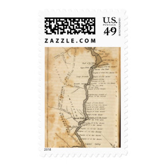 Falls and Portage Postage Stamp