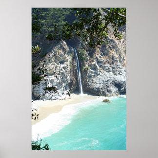 falls at Big Sur Poster
