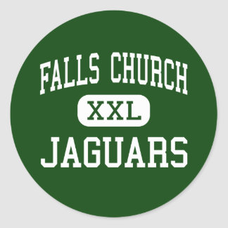 Falls Church - Jaguars - High - Falls Church Classic Round Sticker