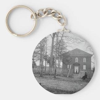 Falls Church, Va. La iglesia. Circa 1861 - 1862 Llavero Redondo Tipo Pin