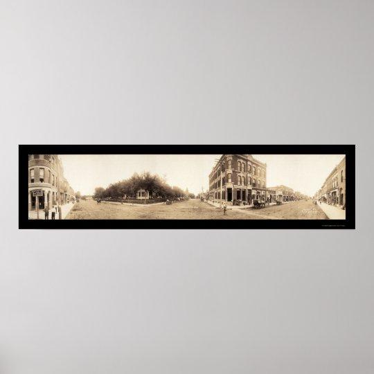 Falls City, NE Photo 1908 Poster
