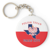 Falls City Polish Texan Keychain