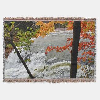Falls Closeup in Autumn Throw