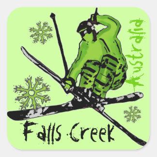 Falls Creek Australia green theme ski stickers