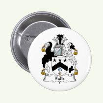Falls Family Crest Button