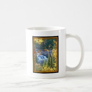 Falls In Autumn with Border Coffee Mug