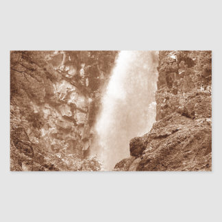 Falls in the Canyon Rectangle Sticker