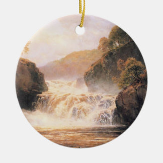 Falls in the Clyde Corry Lynn Ceramic Ornament