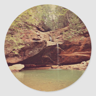 Falls in the Forest Classic Round Sticker