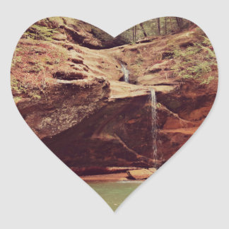 Falls in the Forest Heart Sticker