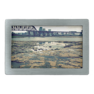 Falls of the Ohio Fossil Beds at Dusk Rectangular Belt Buckle