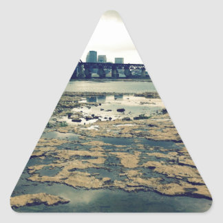 Falls of the Ohio Fossil Beds at Dusk Triangle Sticker