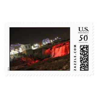 Falls Park Sioux Falls SD Winter Wonderland stamps