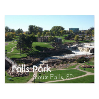 Falls Park, Sioux Falls, South Dakota Postcard