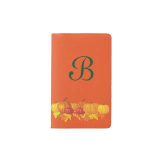 Fall's Pumpkins Pocket Moleskine Notebook