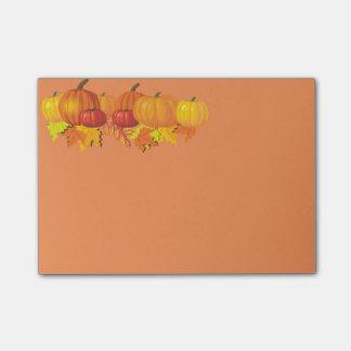 Fall's Pumpkins Post-it Notes