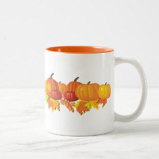 Fall's Pumpkins Two-Tone Coffee Mug