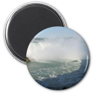 Falls View : Niagara USA Canada 2 Inch Round Magnet