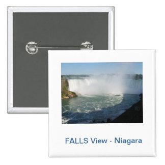 Falls View : Niagara USA Canada 2 Inch Square Button