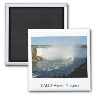 Falls View : Niagara USA Canada 2 Inch Square Magnet