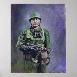 Fallschirmjäger (diablos verdes) póster