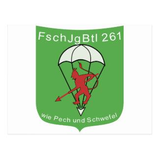 Fallschirmjagerbataillon 261 postcard