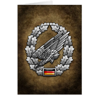Fallschirmjägertruppe Barettabzeichen Card