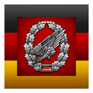 Fallschirmjägertruppe Barettabzeichen Poster
