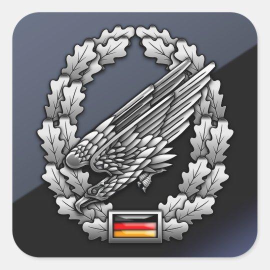 Fallschirmjägertruppe Barettabzeichen Square Sticker