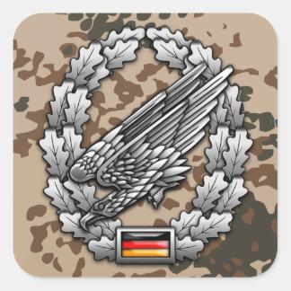 Fallschirmjägertruppe Barettabzeichen Square Stickers