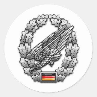 Fallschirmjägertruppe Barettabzeichen Round Sticker
