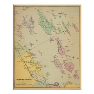 Falmouth Foreside, adjacent islands, Casco Bay Poster