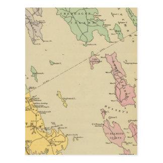 Falmouth Foreside, islas adyacentes, bahía de Tarjetas Postales