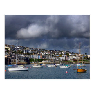 Falmouth Harbour Cornwall Postcard