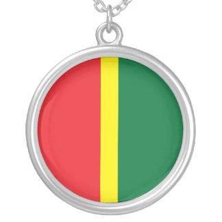 Falmouth Jamaica Reggae Silver Necklace