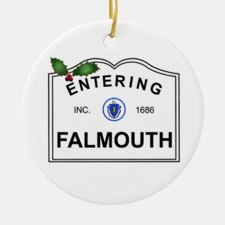 Falmouth MA Ceramic Ornament