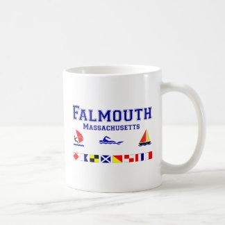 Falmouth MA Signal Flag Coffee Mug