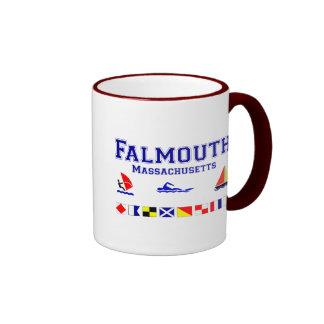 Falmouth MA Signal Flag Ringer Mug