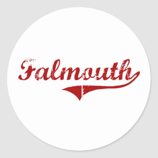 Falmouth Massachusetts Classic Design Stickers
