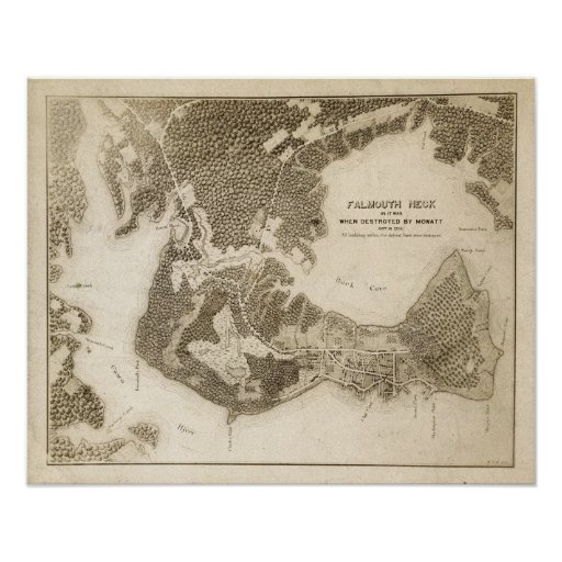 Falmouth Neck as it was When Destroyed By Mowatt Poster