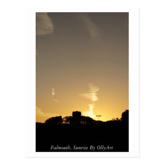 Falmouth, salida del sol por la fotografía de tarjeta postal