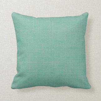 Falsa almohada de tiro de lino del verde pálido de