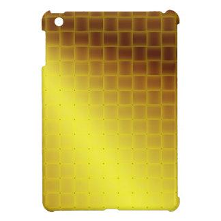 Falsa armadura de satén amarilla iPad mini cárcasa