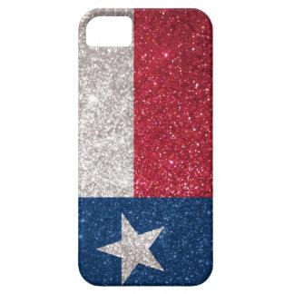 Falsa bandera de Tejas del brillo iPhone 5 Case-Mate Cárcasas