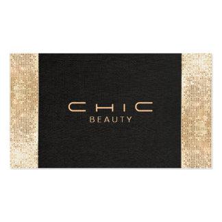Falsa belleza negra elegante elegante de la tarjetas de visita