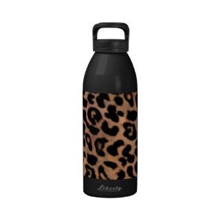 Falsa botella de agua del estampado leopardo