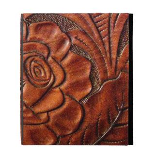 Falsa caja de cuero equipada del folio del iPad