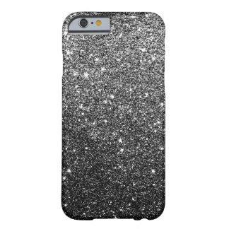 Falsa caja negra elegante del iPhone 6 del brillo Funda Barely There iPhone 6